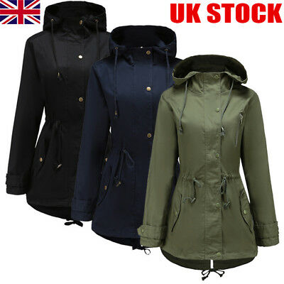 51dd390db Damenmode Womens Military Style Parka Coat Ladies Jacket with Faux Fur Hood  PLUS SIZE 8-26