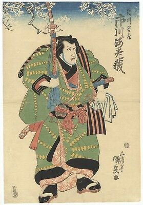 Kunisada I Utagawa, Actor Portrait, Ukiyo-e, Original Japanese Woodblock Print