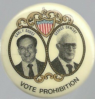 Prohibition Party 1992, Dodge And Ormsby Jugate Pin