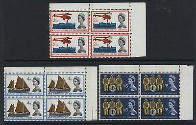 1963 21/2d-1/6 LIFEBOAT (P) U/MINT MINT BLOCKS OF FOUR. SG 639p-641p