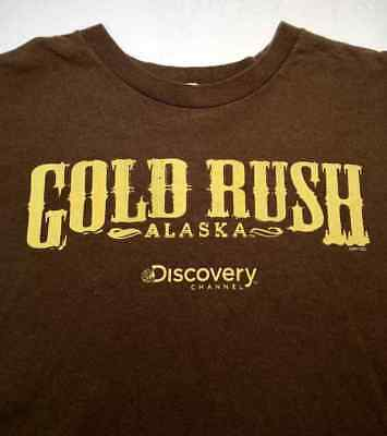 DISCOVERY CHANNEL TV Series GOLD RUSH ALASKA ( EXTRA LARGE ) Brown T-shirt