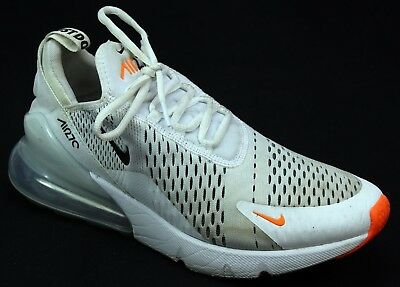 classic fit cdd84 d6303 Mens Nike Air Max 270 White Mesh Fitness Active Sport Sneakers Trainers  Size 9