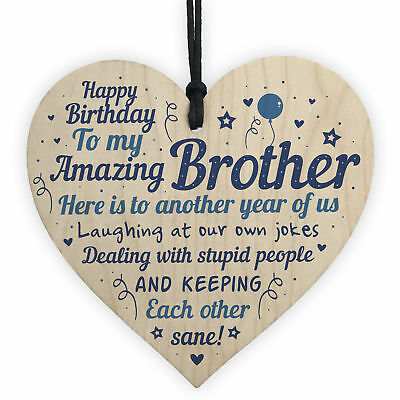 Funny Birthday Gifts For Brother Handmade Wooden Heart Gift From Sister Family