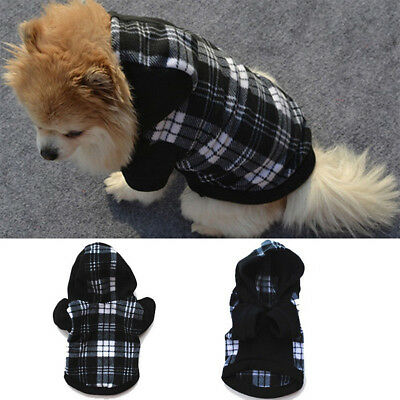 Pet Dog Hoodie Coat Jacket Puppy Cat Winter Warm Hooded Costume Apparel Pretty Z