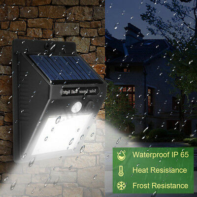 30LED Solar Power Light Motion Sensor Garden Security Outdoor Yard Wall Lamp CHZ