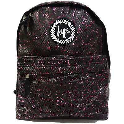 4f0bd05c7c4222 Hype Unisex Snake Skin Flake Effect With All Over Speckled Backpack - Black  / Re