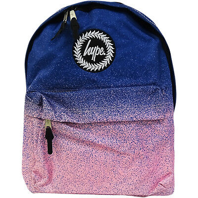 cecd43468d Hype Unisex Blue To Pink Fade With All Over Speckle Backpack