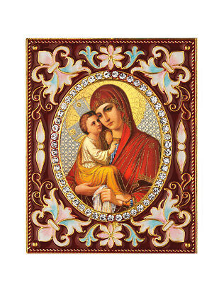 """Madonna and Child Virgin Mary Christ Desk Russian Icon Wall Pendant Ornament 3"""""""
