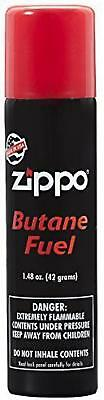 Zippo Lighter Butane Fuel Gas Refill Torch Premium Genuine Fluid, 42 gram New .