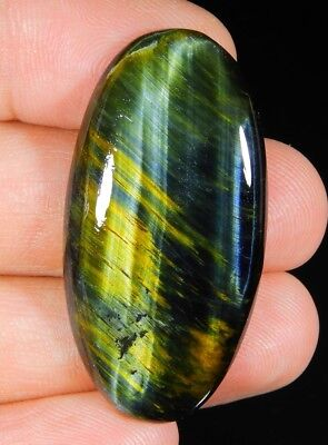 40 Ct Natural  Blue Pietersite Fire Tiger Eye Oval Cabochon Africa Gemstone A298
