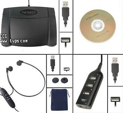 ECS Sony FS-85USB Digital Transcription Kit - New