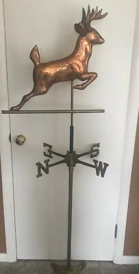 Weathervane Large Deer Copper With Stand