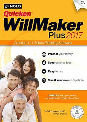 Quicken Willmaker Plus 2017 Mac & Windows