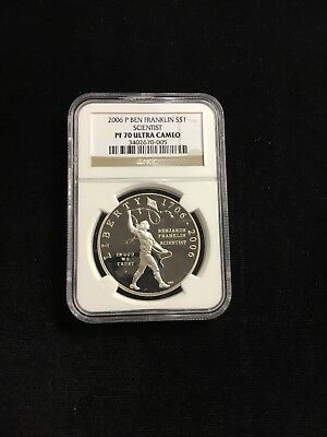 2006 P Ben Franklin Scientist Silver $1 Dollar NGC PF 70 UC