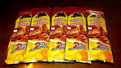 10 Chicken and Waffles XXL Blunt Wraps Cigar rolling papers rolls 10 lot USA