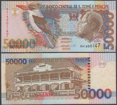 1996 Central Bank St. Thomas and Prince 50,000 Dobras (AU)