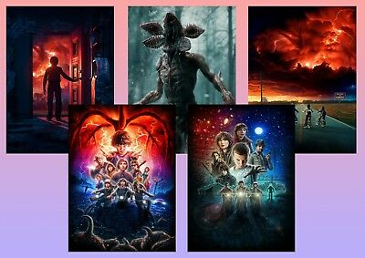 STRANGER THINGS: Demogorgon, Eleven, Dustin, Mike   A5 A4 A3 Textless Posters