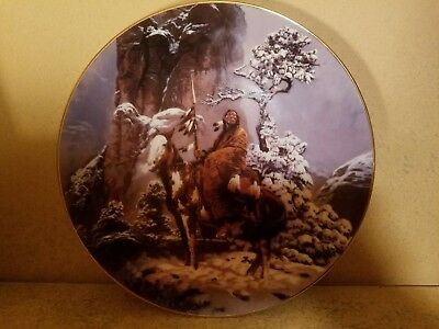 """Hamilton Collection 1992 Mystic Warriors Indian Collector Plate-""""Mystic Warrior"""""""