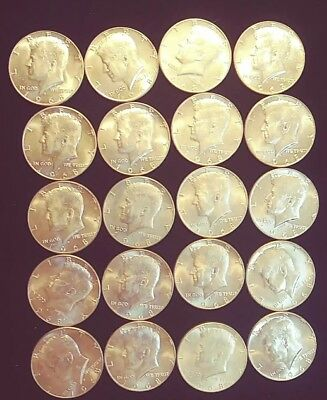 Roll of (20) 1968-D Uncirculated Silver Kennedy Half Dollars, $10.00 FV, Lot A