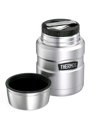 Thermos 16 oz. Stainless King Vacuum Insulated Stainless Steel Food Jar w/ Spoon