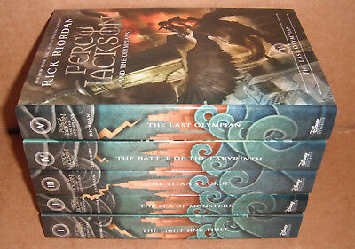 Percy Jackson & the Olympians Vol. 1,2,3,4,5 Complete by Rick Riordan Hardcover