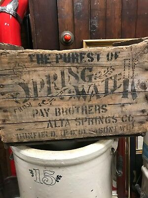Rare Pay Brothers Alta Springs Co Wooden Crate Dunfield Gleason Merrill Wisc.