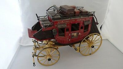 Superb Condition Franklin Mint Wells Fargo Stagecoach With Guns And Luggage