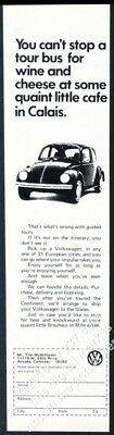 1972 VW Beetle classic car photo European delivery theme Volkswagen vintage ad