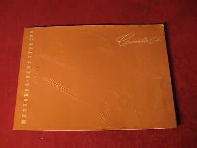 1954? Mercedes Benz 220 Convertible Original Showroom Sales Brochure Old Booklet