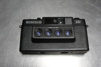 "Vintage ""Nimslo 3D"" Quadra Lens 35mm Film Camera"