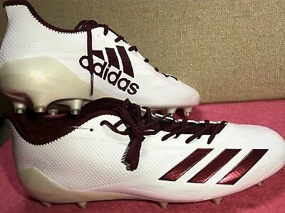 best service d3599 0580c adidas adiZero 5-Star 6.0 Football Cleats White Maroon Men s Size 15 BW1084