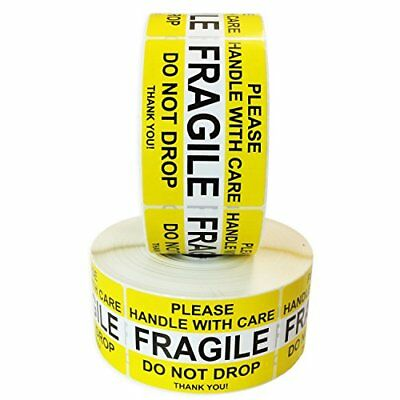 """Fragile Please Handle with Care Do Not Drop Label Stickers 2"""" x 3"""" 2000 Labels x"""