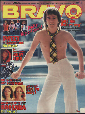 BRAVO Nr.8 vom 14.2.1978 Howard Carpendale, Sweet, Baccara, Andy Gibb, the Who