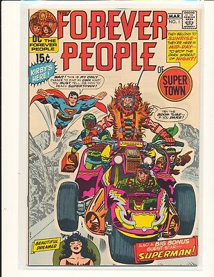 Forever People # 1 - 1st full Darkseid Kirby cover & art VF Cond.