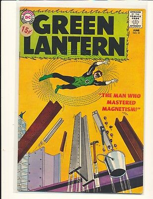Green Lantern # 21 - 1st Dr. Polaris VG/Fine Cond. price sticker on cover