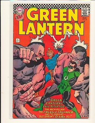 Green Lantern # 51 VG+ Cond. price sticker on cover