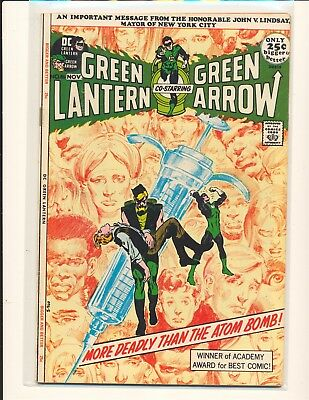 Green Lantern # 86 - Anti-drug issue Neal Adams cover & art Fine+ Cond.