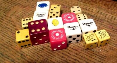 Casino  Dice & vintage BOARD GAME Dice Mixed lot