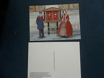 Mpb Postcard 13 Victorian Costume Stamp Vending Machine Post Office