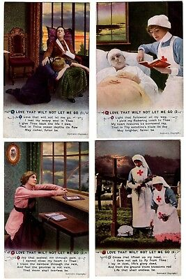 Love That Wilt Not Let Me Go  Bamforth Song Cards  Set of 4    Unposted  -  2109