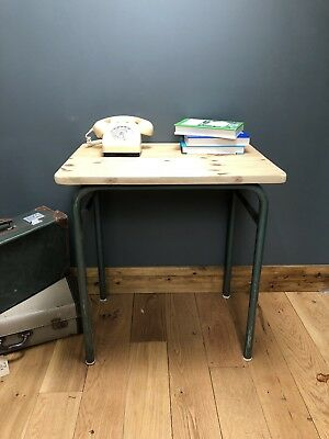 Retro French School Desk Vintage Table Study Industrial Pine FREE DELIVERY!