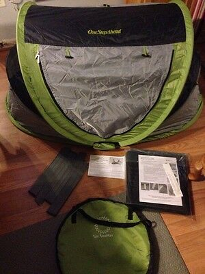 Kidco PeaPod Plus Portable Infant Child Travel Bed Tent KIWI With New RECALL KIT