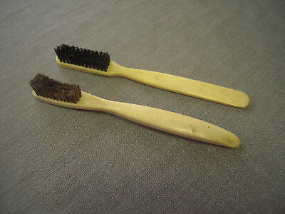 Antique  BOVINE COW BONE  Toothbrush   -2pc