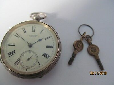 Victorian Silver Cased Fusee Pocket Watch London 1886 W A Southey London