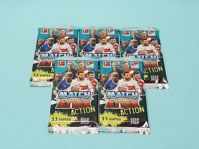 Topps Match Attax 2018/2019  Action 5 Booster / 55 Trading Cards  18/19