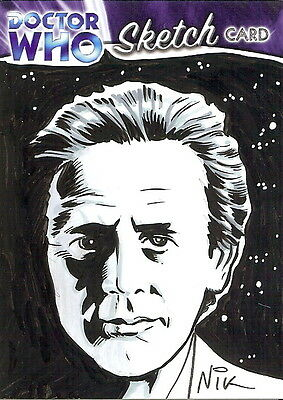 Dr Doctor Who Trilogy Sketch Card by Nick Neocleous /4 - The 7th Doctor