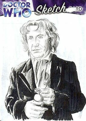 Dr Doctor Who Trilogy Sketch Card drawn by Chris Henderson - The 8th Doctor