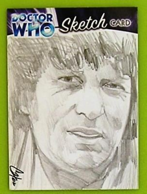 Dr Doctor Who Trilogy Sketch Card drawn by Cat Staggs of The 5th Doctor