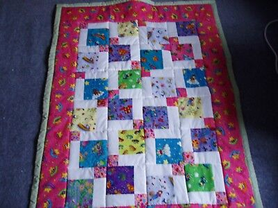 Home made patchwork quilt/playmat for small child-NEW