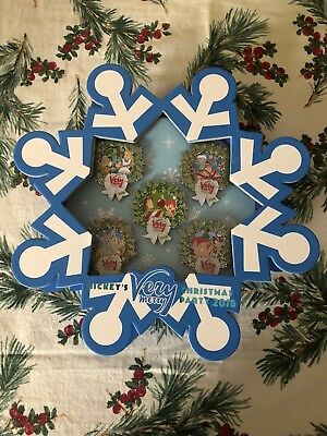 Mickey's Very Merry Christmas Party 2018 Snowflake 5 Pin Box Set Disney Limited